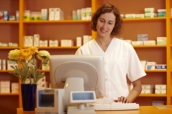 Pharmacist at the counter